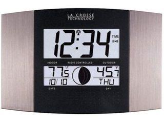la Crosse Technology WS 8117U IT Al Atomic Wall Clock with Indoor Outdoor Temperature