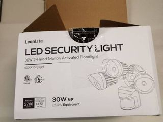 lEONlITE 30W 3 Head Motion Activated lED Outdoor Security light