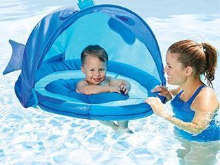 SwimSchool Blue Fun Fish Fabric Baby Pool Float  Splash   Play