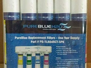 PureBlue TlR04RC 5PK Twist lock Replacement Filter Pack for 4 Stage Reverse Osmosis