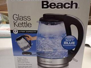 Hamilton Beach Glass Electric Tea Kettle  Water Boiler   Heater