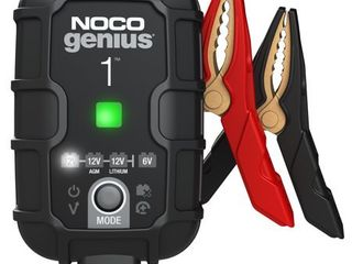 NOCO GENIUS1  1 Amp Fully Automatic Smart Charger  6V And 12V Battery Charger