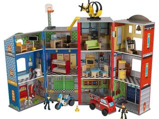 KidKraft Everyday Heroes Police and Fire Play Set  Retail 122 99