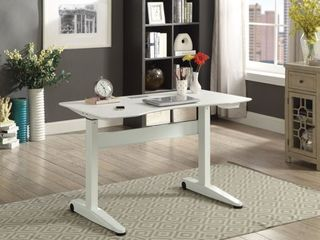 Furniture of America Glidene Modern 47 inch Metal Computer Table  Retail 494 99