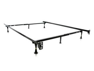 Brookside Metal Full  Twin Heavy duty Adjustable Bed Frame with Glides