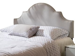 Bianca Adjustable Full  Queen Studded Fabric Headboard by Christopher Knight Home  Retail 143 99