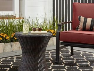 Adriana Outdoor Boho Wicker Accent Table by Christopher Knight Home  Retail 87 99