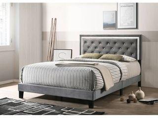 Corvus Velvet Upholsterd Platform Frame Bed  Retail 486 99