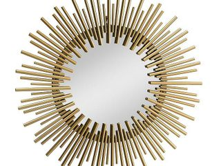Sunjoy Decorative Gold Wall Art Mirror