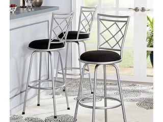 Simple living Alyssa Adjustable Height Swivel Stools  Set of 3  Retail 157 99