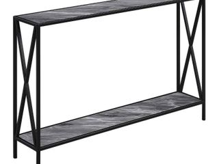 Carbon loft Ehrlich Cross Design Console Table  Retail 124 49