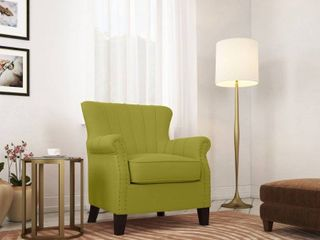 Copper Grove Eveque Kiwi Green linen Arm Chair  Retail 314 49