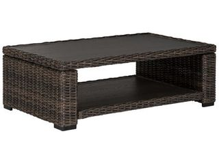 Grasson lane Brown Rectangular Cocktail Table  Retail 395 76