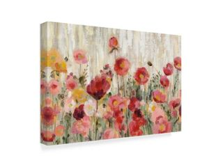 Silvia Vassileva  Sprinkled Flowers Crop  Canvas Art