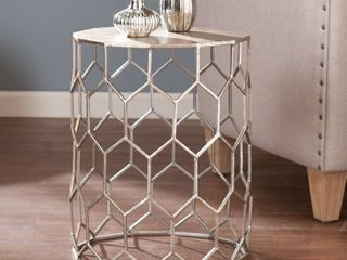 Christopher Metal Accent Table  Retail 87 39