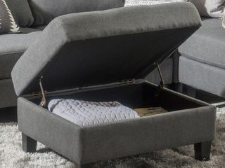 Copper Grove Crowe Modern Grey Upholstered Tufted Storage Ottoman  Retail 108 14