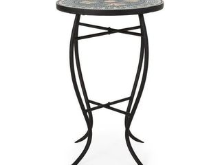 Bloomfield Outdoor Side Table with Tile Top by Christopher Knight Home