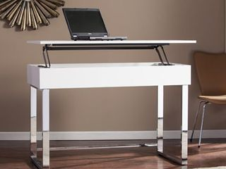 Ida White Adjustable Height Sit  Stand Desk  Retail 419 99