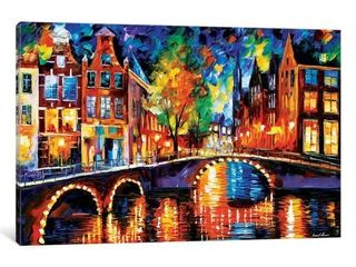 iCanvas The Bridges of Amsterdam by leonid Afremov Canvas Print  Retail 99 49
