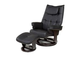 Relaxzen 60 051005 8 Motor Massage Recliner with lumbar Heat and Ottoman  Black  Retail 386 98