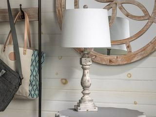 Ed Rustic Distressed Gray Table lamp