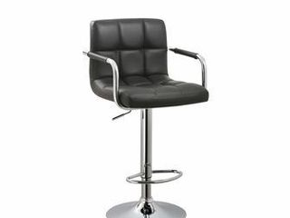 Black Adjustable Retro Bar Stool  Retail 99 99