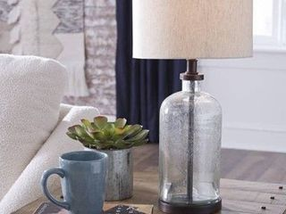 Bandile Modern Farmhouse Glass Table lamp   10 W x 10 D x 22 H