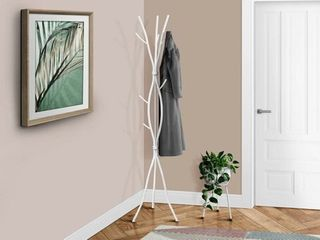 Offex Coat Rack 74 H   White Metal