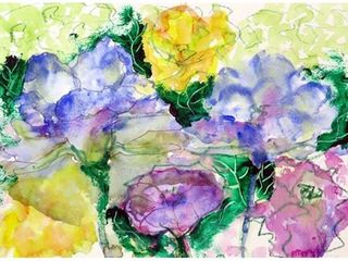 Betsy Drake Watercolor Garden Door Mat  18 inch x 26 inch
