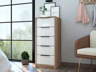 TUHOME Kaia 42  free standing 5 drawer dresser  Retail 189 99
