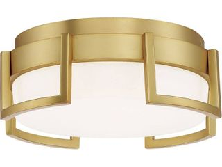 George Kovacs P953 1 248 l Bezel Set Flush Mount Honey Gold