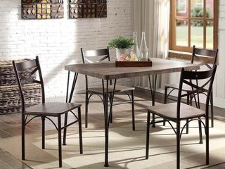 Furniture of America Zath Industrial Metal 5 piece Dining Set  Retail 222 49