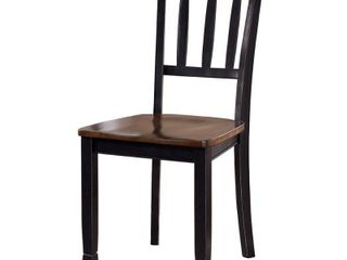 Owingsville Dining Room Chair   Set of 2   Black Brown  Retail 142 49
