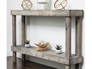 Rustic luxe large Wooden Sofa Table by Del Hutson Designs  Retail 183 49