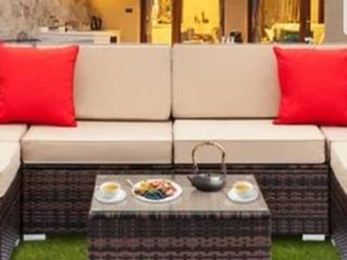 Gereja 3 piece Outdoor Rattan Sectional Sofa Set by Havenside Home  Retail 729 99