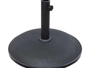 Outsunny 20  Round 55 lb Decorative Patio Umbrella Stand Base