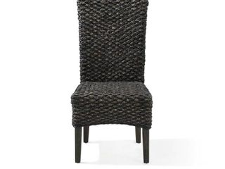 Meadow Chair Water Hyacinth in Graphite  Set of 2  Retail 331 99