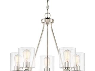 Studio 5 Polished Nickel Chandelier by Minka lavery  Retail 359 95