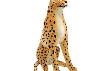 Melissa   Doug Giant Cheetah   lifelike Stuffed Animal  over 4 feet long