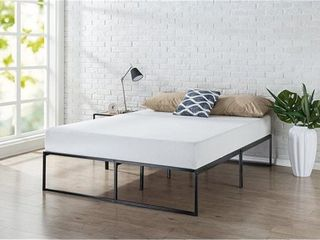 zinus 14 inch platforma bed frame   mattress foundation   no box spring needed   steel slat support  queen