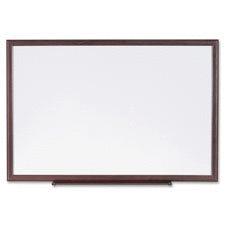 lorell llR84167 Dry Erase Board  Wood Frame  3 inch x 2 inch  Brown White