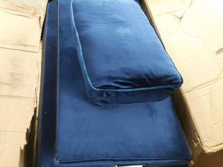 Blue Suede love sofa