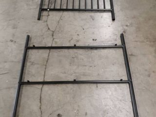 Small Black Bed Frame Headboard and Footboard No Hardware