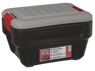 Rubbermaid 8 Gallon Action Packer lockable latch Storage Box Container  Black  2 Pack