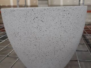 White textured planting pot