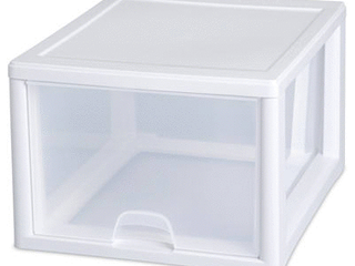 Sterilite 27 Quart  26 l  Stacking Drawer  White  Case of 4