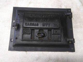 Vintage Cast Iron Stove Door