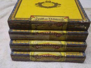 4 Vintage Partagas Cigar boxes