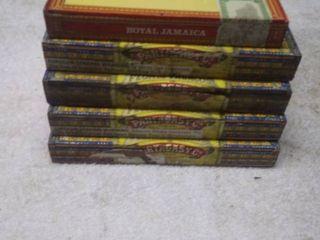 5 Vintage Cigar Boxes