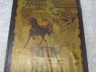 Vintage Capewell Horse Nail Co  1897 May Calendar